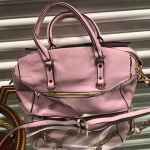 Cynthia Rowley baby pink leather bag